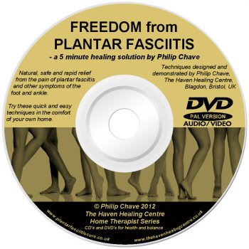 Rapid Relief from the Pain of Plantar Fasciitis DVD -lightscribe label